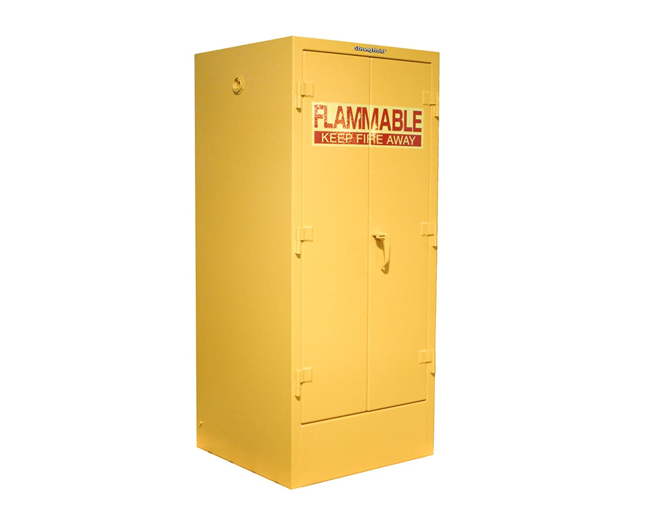 Extra Heavy Duty 12 GA 55 Gallon Double Drum Flammable Safety Cabinet with Manual-Closing Doors, 2 Shelves – 32 In. W x 30 In. D x 72 In. H