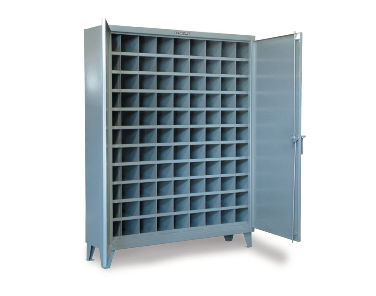 Extra Heavy Duty 12 GA Cabinet with 99 Pigeonhole Shelving – 60 in. W x 16 in. D x 78 in. H
