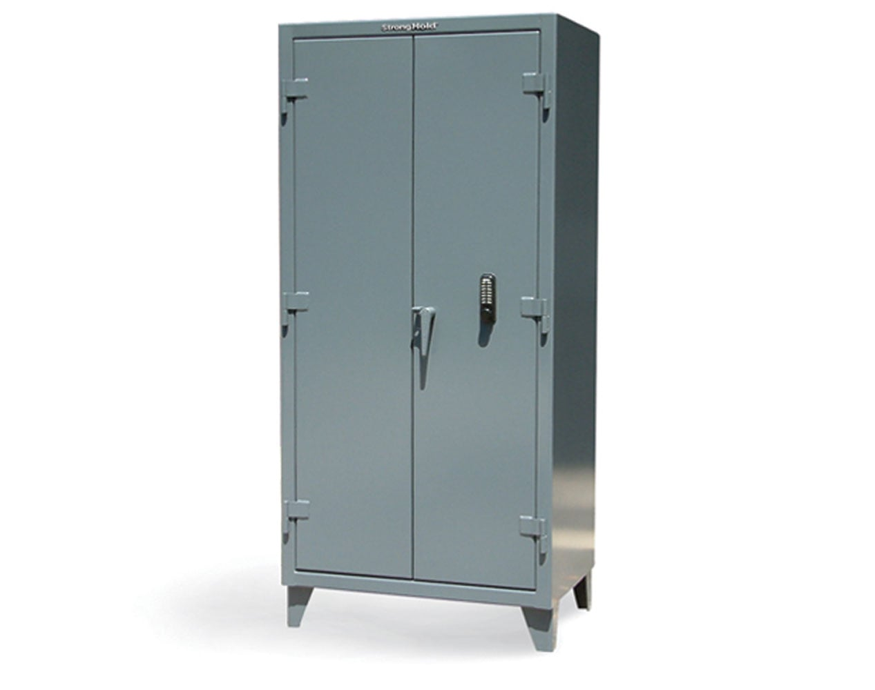 Extra Heavy Duty 12 GA Cabinet with Keypad, 4 Shelves – 60 In. W x 24 In. D x 78 In. H