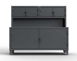 Workbench with Upper Storage Compartments
