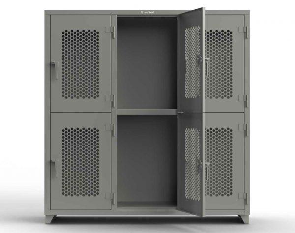 Ventilated 14 GA Double-Tier Locker - 6 Compartments