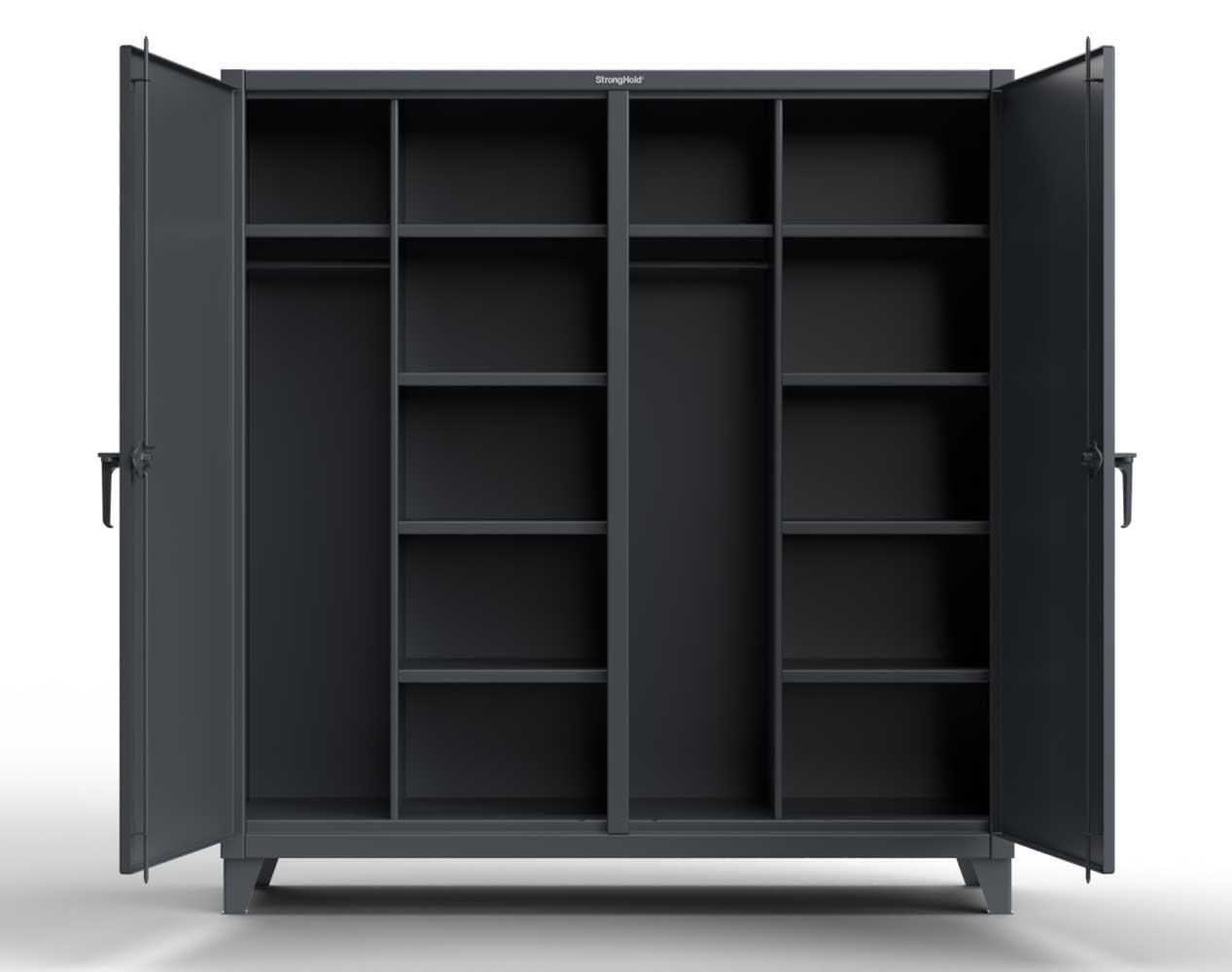 Extreme Duty 12 GA Double Shift Uniform Cabinet with 10 Shelves – 72 In. W x 24 In. D x 78 In. H
