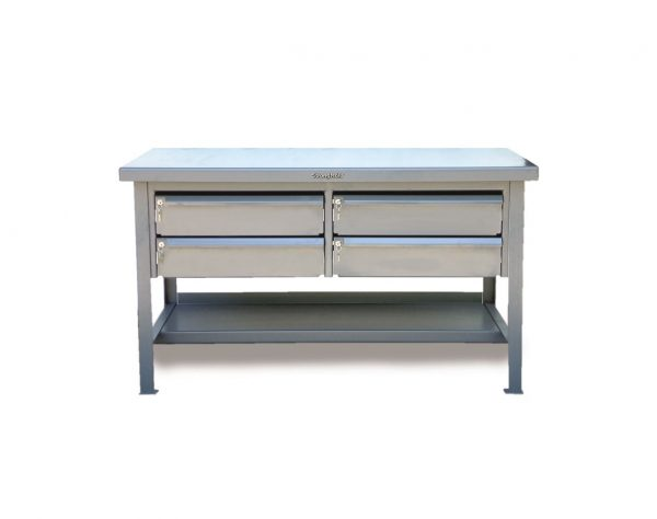 ABS Top Shop Table with Keylock Drawers