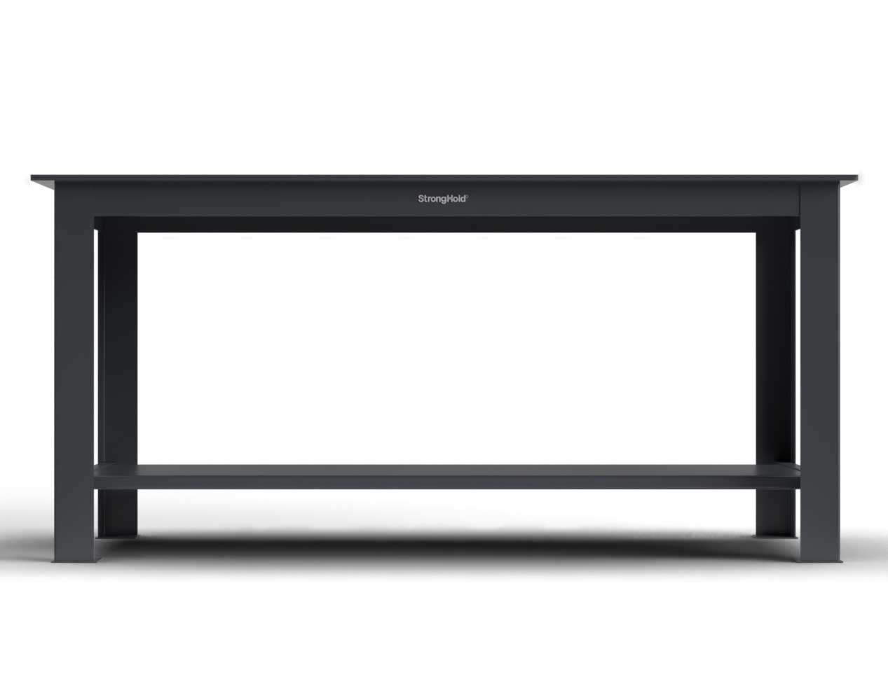 Extra Heavy Duty Shop Table with Half Inch Steel Plate Top, 1 Shelf – 84 In. W x 36 In. D x 34 In. H