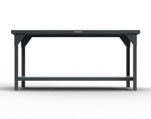 7 GA Industrial Shop Table with Adjustable Legs and UHMW Top