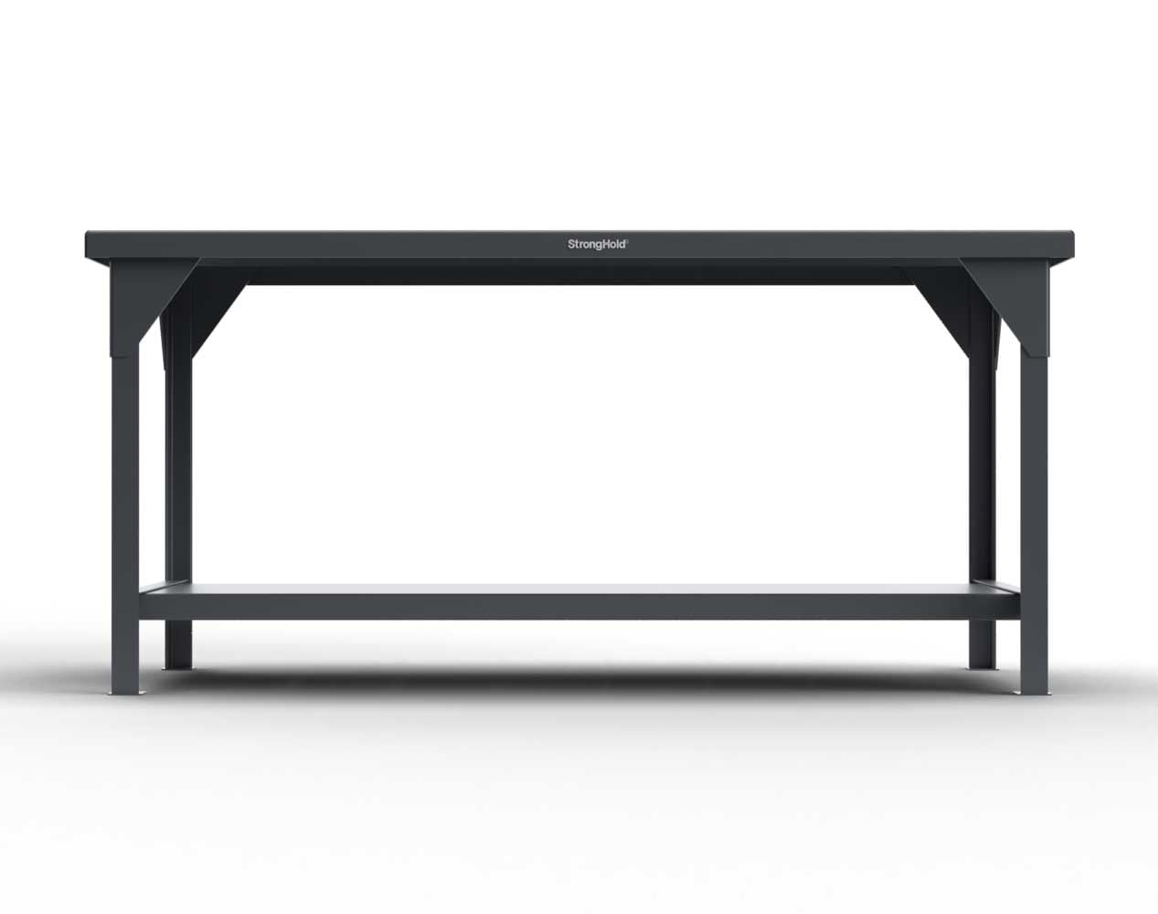 Extra Heavy Duty 7 GA Shop Table with UHMW Top, 1 Shelf – 48 In. W x 30 In. D x 34 In. H